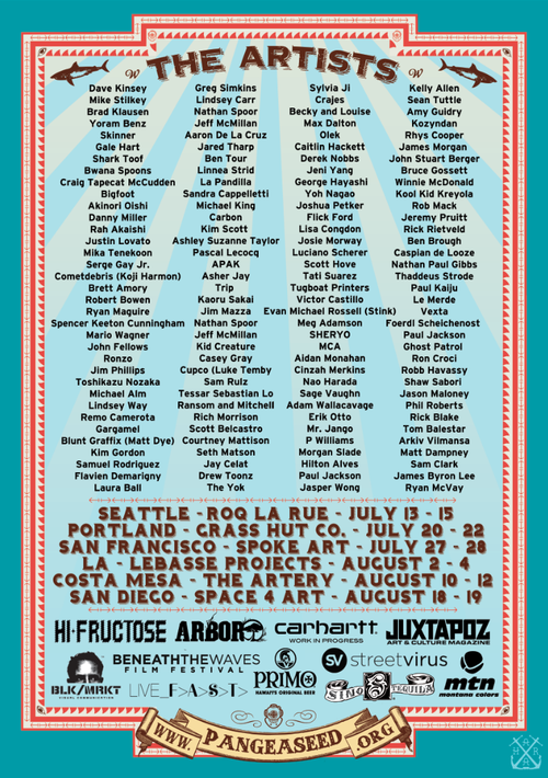 PangeaSeed-Great West Coast Migration-Tour Poster-BACK