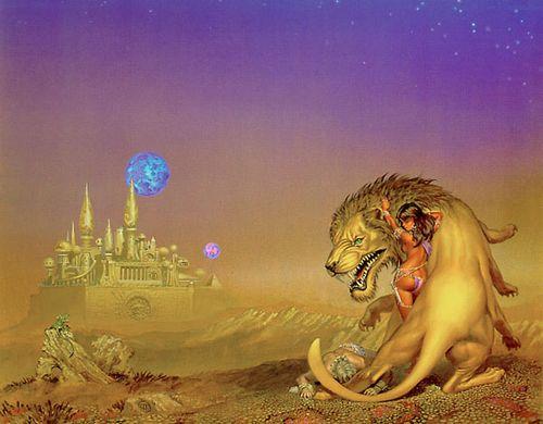 Michael Whelan - Femme et lion 22